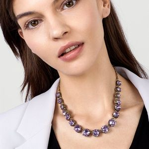 NWT Baublebar Camryn gem necklace purple/gray